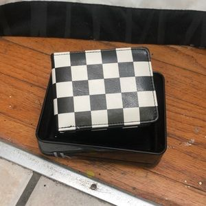 Buckle-Down Black & White checkerboard wallet